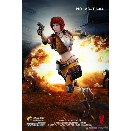 1/6 Wefire Of Tencent Game Fourth Bomb - Female Mercenary - Heart King