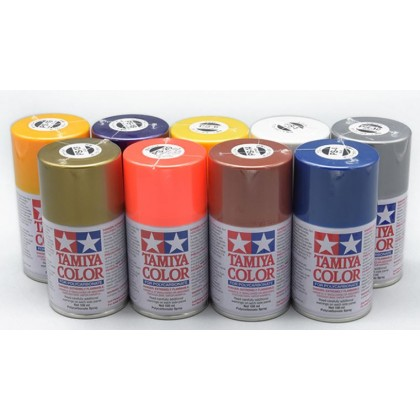 Tamiya Spray Paints for Polycarbonate PS01-PS24