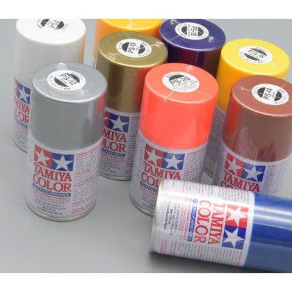 Tamiya Spray Paints for Polycarbonate PS25~PS49
