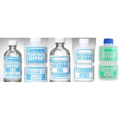 Mr.Hobby Water Based Color Acrysion Solvent T110-T314