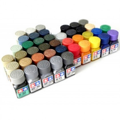 Tamiya Color Enamel Paint (Flat) XF1-XF20